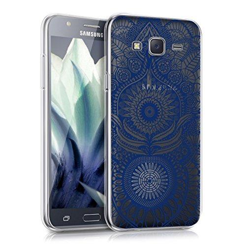kwmobile Cover Compatibile con Samsung Galaxy J5 (2015) - Custodia in Silicone TPU - Back Case Cover Protettiva Cellulare Oriente Blu/Trasparente