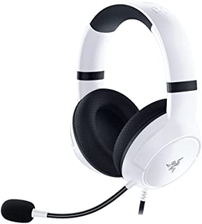 هدست سیمی Razer Kaira X برای Xbox Series X   S: TriForce Titanium 50mm Drivers - HyperClear Cardioid Mic - Flowknit Memory Foam - On -Headset Controls - PC ، Mac ، کنسول ها و دستگاه های تلفن همراه - سفید