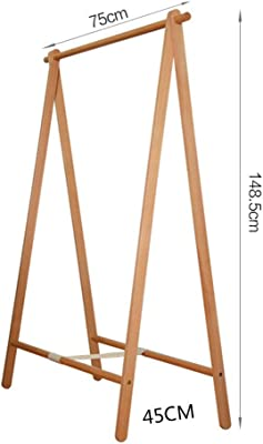 Amazon.com: HIGJ - Perchero de madera maciza con bolsillo ...