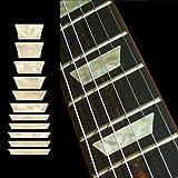 Jockomo マウンテンブロック(Aged ホワイト・パール) ギターに貼る インレイステッカー