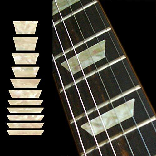 profesional ranking Inlays-Diapasones para guitarra y bajo-Placas / trapezoides estilo Les Paul-Perlas blancas envejecidas elección