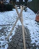 Darlux Soporte de tres patas para casas de pájaros, tamaño XXL-L, de madera natural