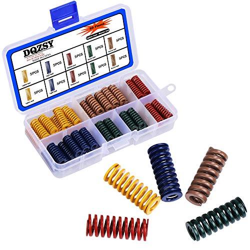 Stampante 3D Die Spring 8mm OD 20mm Lunghezza Stampo a compressione a carico leggero Molla stampo, 5 colori, 50 pezzi
