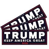 SBB 3pcs President Donald Trump Keep America Great 2020 Election Patriotic Bumper Sticker Decal 9x3 Inch Car Auto Decal Conservative Republican (Blue)