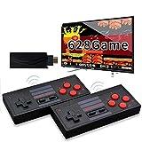 WFGZQ Consola De Videojuegos, 628 Juegos Clásicos Integrados, Controlador Inalámbrico De Gamepad Retro De Mano USB, Reproductores Duales con Salida HDMI 4K HD, Niños