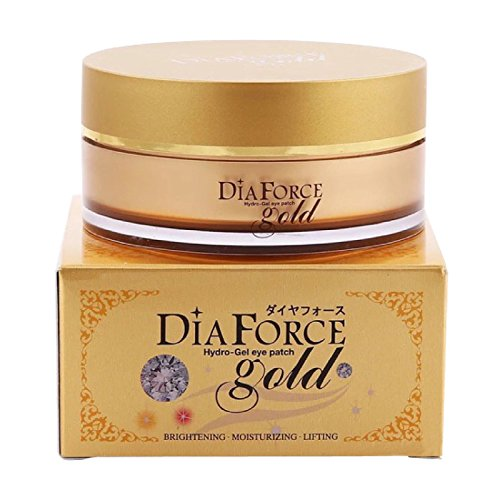 60 PCS Miskin Dia Force Gold Hydro-Gel Eye Patch Gold Eye Mask, Collagen Eye Mask, Gold Eye Pads Anti-aging Hyaluronic Acid Eye Patches for Anti Aging,Dark Circles,Puffiness and Wrinkle