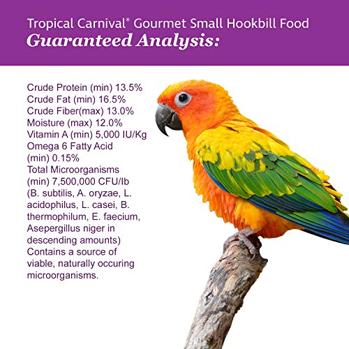 F.M. Brown'S Tropical Carnival Gourmet Bird Food For Parrots, African Greys, And Conures Under 13 - Probiotics For Digestive Health, Vitamin-Nutrient Fortified Daily Diet