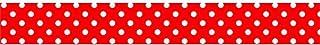 Washi Tape - Cinta Adhesiva Decorativa - 10 M x 15 mm -rojo Y Lunares Blancos, Folia lo cual llevó a bringmann