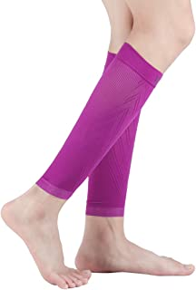 Calf Compression Sleeves for Men & Women (20-30mmhg) - Increase Blood Circulation & Calf Pain Relief - Faster Recovery Leg & Footless Compression Socks for Sports,Running,Shin Splints,Varicose Veins
