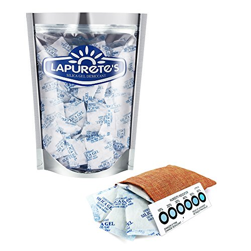 Lapurete 's ® 10 Gramm 25 Stück Silicagel Pakete Trockenmittel Luftentfeuchter (regenerierbar)