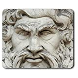 Comfortable Mouse Mat - Zeus Greek God Statue 23.5 x 19.6 cm (9.3 x 7.7 inches) for Computer & Laptop, Office, Gift, Non-Slip Base - RM12553