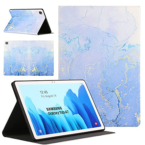 Sunily Cover Galaxy Tab A7 10.4 pollici 2020, Ultra Sottile Pelle Flip PU Custodia per Samsung Galaxy Tab A7 Cover Magnetico Stand Antiurto Case Tablet Cover (T500   T505   T507), Marmo blu