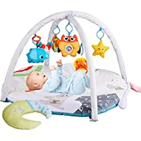 Wyswyg Rabbit-Shape Baby Play Mat with 6 Removable Hanging Toys
