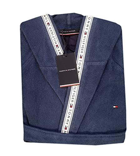 Tommy Hilfiger Timeless - Albornoz con capucha unisex para hombre y mujer, talla S, M, L, XL, XXL, 100% rizo...
