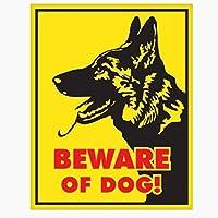 VCHSH 動物の警告絵のステッカードイツの羊飼い犬のロゴウィンドウボディバンパーバックテールボックス車2.7cm * 16cm