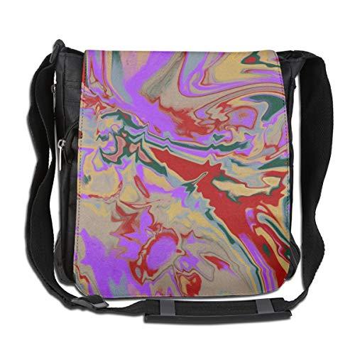 Doinh Umhängetasche, abstraktes Gemälde mit Ölfarbe, personalisierbar, für Männer und Frauen geeignet