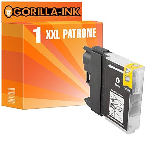 Gorilla de Ink 1x Cartuchos de Tinta XXL (compatible con Brother LC985DCP-J 125DCP-J de 140W DCP J 315W Negro
