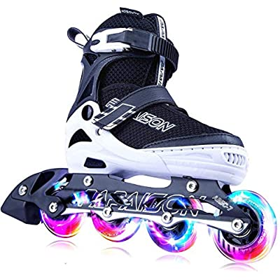 Amazon - 50% Off on Adjustable Inline Skates for Kids and Adults with Full Light Up Wheels