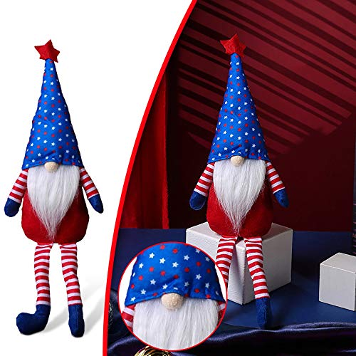 Patriotic Gnomes Plush 4th of July Decorations Uncle Sam Tomte Stars Stripes Doll Scandinavian Ornaments for Memorial Day Independence Day Scandinavian Household Ornaments Tray Decoration