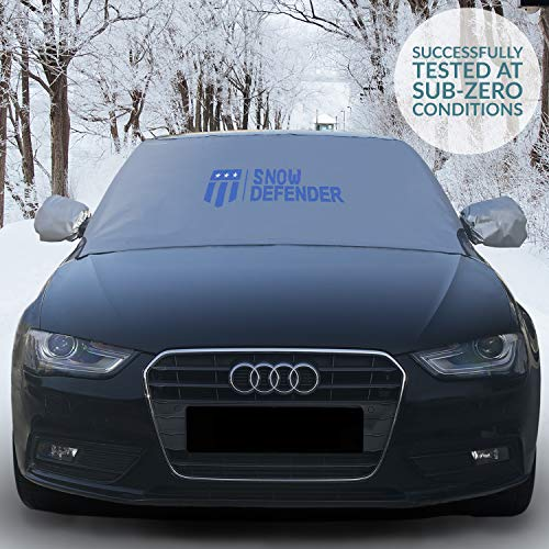 Magnetic Edges Windshield Snow Cover with Rearview Mirror Covers - Snow, Ice and Frost Protection...