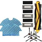 Piezas de vacío Piezas de vacío Reemplazo 4X Cepillos Laterales+3X Filtros Apto para Ecovacs Deebot Ozmo 900 Filtro Cepillo Mopa Set Partes de Aspiradora Reemplazo de Cepillos Principales Accesorios