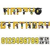 LEGO DC Comics - Banner Batman Happy Birthday mit Alter Banner, 3,2m x 25cm