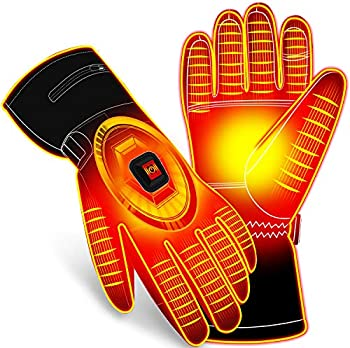 Autocastle Electric Battery Touchscreen Water-resistant Heated Gloves