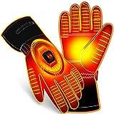 Electric Battery Heated Gloves,Women Men Touchscreen Water-resistant Heat Gloves