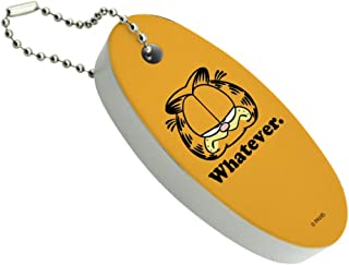 Graphics and More Garfield Whatever Face Floating Keychain Oval Foam Fishing Boat Buoy Key Float