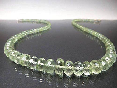 Collar Beryl amarillo verde degradado / Ber04 / collar de berilo amarillo / Heliodor / raro / collar de piedras preciosas únicas 9,5 a 4 mm 48 cm