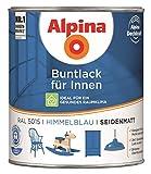 Alpina Buntlack für Innen - 750 ml - Ral 5015