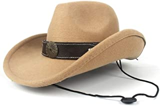 WUNONG-AU Men's and Women's Autumn and Winter Fedora hat Black Cloth Bandwidth Side Jazz hat Outdoor Humbold Travel Woolen hat (Color : Khaki, Size : 56-58)