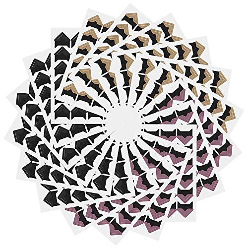 Seatecks 18 Blatt Foto-Ecken selbstklebend 432 Stück 3 Farben für DIY Scrapbook, Fotoalbum, persönliches Tagebuch, Milch mehr