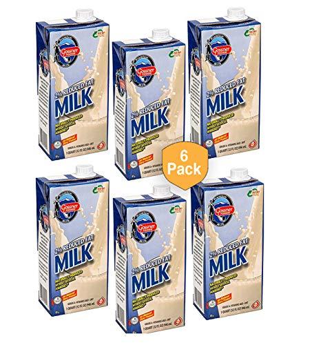 Gossner Milk, 6(SIX) 1 Quart(32 Fl Oz) Tetra Packs (2% Reduced Fat)