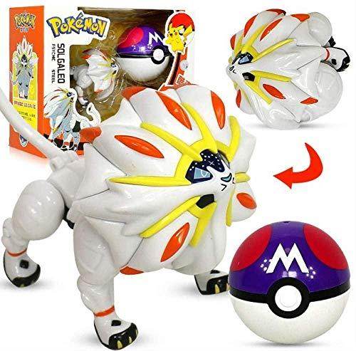 Ltong Pokemon Pikachu Solgaleo Spielzeug 11Cm Modell Tasche Elf Ball Manuelle Verformung Roboter Elf Baby Set Film TV Spielzeug Figur