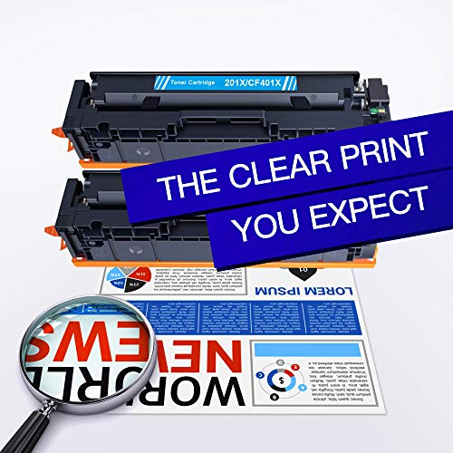GPC Image 201X Toner Kompatibel für HP 201X 201A CF400X CF400A Toner für HP Color Laserjet Pro MFP M277dw M277n M274n M277 Laserjet Pro M252dw M252n Tonerkartusche (1Schwarz/ 1Cyan/ 1Magenta/ 1Gelb)