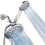 AquaDance 7' Premium High Pressure 3-Way Rainfall Combo for The Best of Both Worlds - Enjoy Luxurious Rain Showerhead...