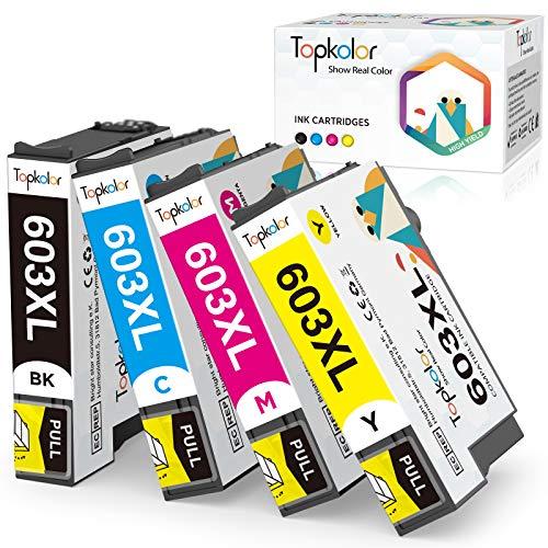 Topkolor 603XL Sostituzione per Epson 603 603XL cartucce d'inchiostro compatibili con Epson Expression Home XP-2100 XP-2105 XP-3100 XP-3105 XP-4100 XP-4105 Workforce WF-2810 WF-2830 WF-2835 WF-2850
