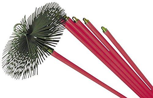 MAURER Kit per Pulizia Canna FUMARIA SCOVOLO 30 cm +6 ASTE da 1,4 MT Caldaia Stufa