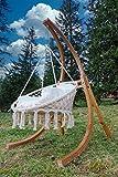 DESIGN Hängesesselgestell Hängesessel aus Holz Lärche Modell: CATALINA komplett mit großem Stoffsessel von AS-S - 7