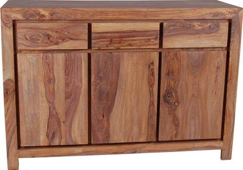 MiaMöbel Sideboard Maharaja 130x90x45 cm Modern Massivholz Sheesham Sheesham Natur