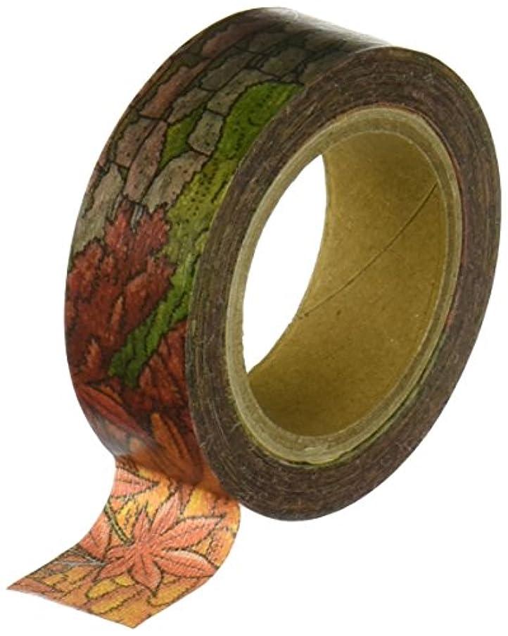 Roundtop Designer's Washi Masking Tape, Dense Series, Shrine in Autumn (RT-MK-052)