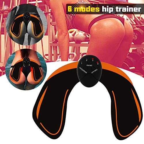 Haofy EMS Hip Trainer, Buttocks Lifting Muscle ABS Stimulator, 6 Modes & 10 Intensity for Builder Buttock Tighten Lift Hip Eliminate Excess Fat, Body Beauty Equipment Hips Muscle Toner