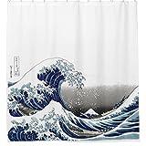 zichuangd Vintage Great Wave Hokusai Vorhang für die Dusche