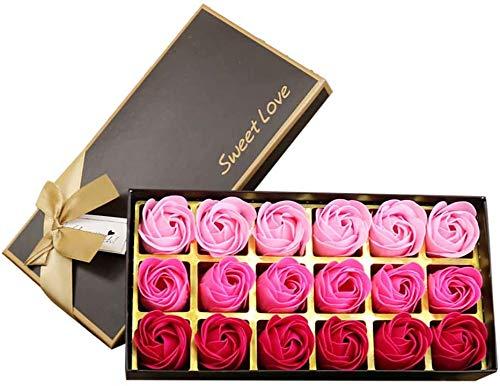 18 pezzi di sapone ai fiori di rosa - profumo di...