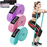 Fabric Long Resistance Bands Set - Full Body Workout Bands Resistance for Women Pull Up Assistance Bands for Weight Training,Resistance Training, Physical Therapy,Home Workouts (Long Loop 3s)
