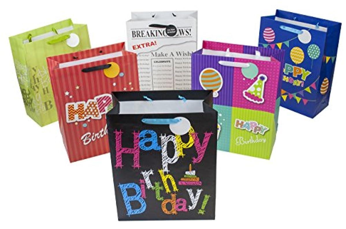 12 Piece Medium Designer Birthday Gift Bags, 12.75
