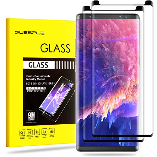 QUESPLE (2 Pack) Tempered Glass Screen Protector for Samsung Galaxy Note 8, 3D Curved Dot Matrix Case-Friendly