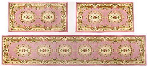 Klassischer Orient-Teppich im floralen Aubusson Design | Galerie/Läufer | 67 x 600 cm; Farbe: Rose | THEKO die markenteppiche - Sydney1000