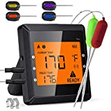Meat Thermometer for Grilling and Smoking, 6 Probes Wireless Bluetooth Digital Meat Thermometer with...